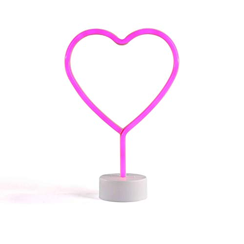 Neonlicht hart LED roze tafellamp decoratieve lamp nachtlicht (decoratielicht, neon, 29,5 cm, feestlicht)