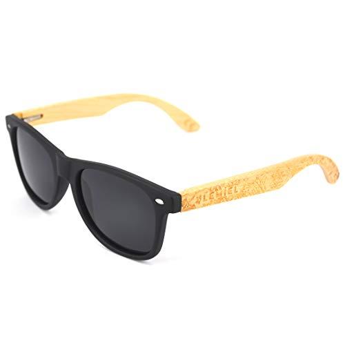 LEMIEL be natural LEMIEL - DIE ÖKO-HOLZBRILLE - Hochwertige Holzsonnenbrillen aus Bambus - Polarisiert - Damen & Herren - Bambus-Etui - UV 400-1 Artikel = 1 Baum. (FRA Bamboo)