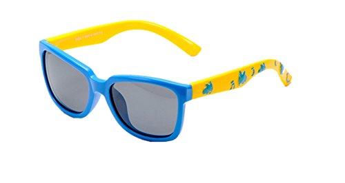 DAUCO Gafas de Sol niño y niña (4-12años) Rosa Marco Flexible Lentes Polarizadas gafas de sol para niñas chico