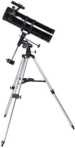 AQWESD Telescopio astronomico a riflessione da 150 mm per Professionisti Principianti Riflettore Spaziale Monoscopio da Viaggio per Adulti Cannocchiale per Bambini