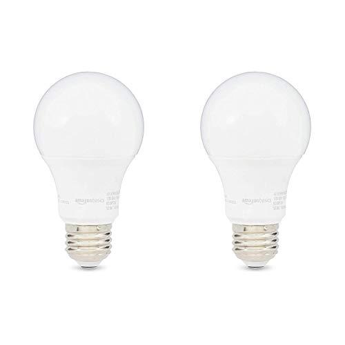 AmazonBasics – Colección de bombillas LED regulables, Luz de día, Paquete de 2, 60 W