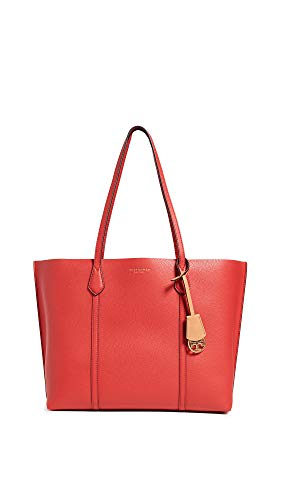 Tory Burch Women's Perry Triple-Compartment Tote, Brilliant Red, One Size