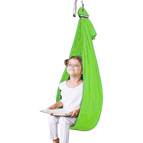 CWYP-MS Hamaca de Yoga aérea, Swing sensorial para niños y Adultos con Necesidades Especiales Swing hamacas con cojinete de Carga 200kg Hamaca Ajustable (Hardware Incluido)
