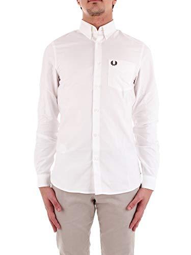 Fred Perry Uomo Camicia Oxford Classica Bianco XXL