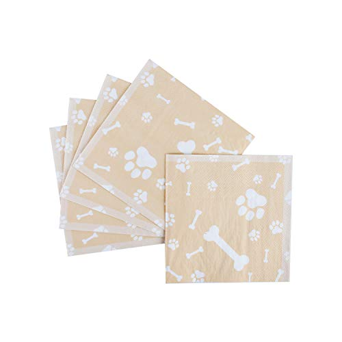 Dog Party Supplies Disposable Paper Napkins Puppy Birthday Decorations Paw Theme Party Decor Labrador