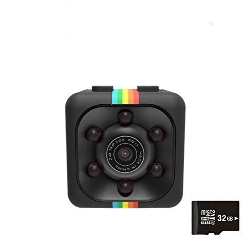 Mini Telecamera,Mini Cam 1080P Spy Hide Camera Sansnail HD Baby Sitter Network Camera Night Vision and 32G Card Motion Detection
