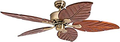 """Honeywell Ceiling Fans 50502-01 Willow View 52"""" Ceiling Fan, Aged Brass"""