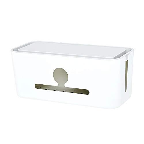 電源コードストレージマネージャー、床または机の下の覆われたプラスチック製の収納ボックス、電源ボードの非表示または固定に適しています