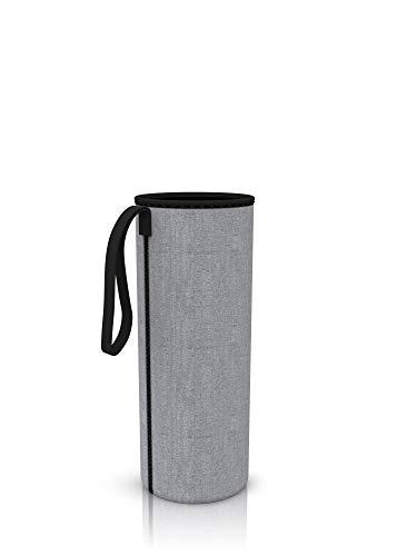 spottle® Neoprenhülle für Glasflachen in 550, 750 und 950ml - Hergestellt aus umweltfreundlichem Neopren (Grau, 550ml)