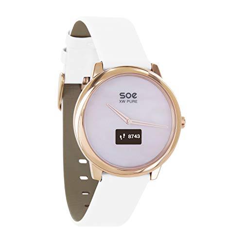 X-WATCH │ SOE XW Pure │ Damen Smartwatch elegant – Damenuhr rosegold – Uhr mit Schrittzähler – Damen Fitness Tracker
