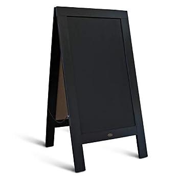 Rustic Vintage Black Wooden A-Frame Chalkboard / Sidewalk Chalkboard Sign / Large 40  x 20  Sturdy Sandwich Board / A Frame Restaurant Message Board  Classic