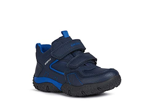 Geox Jungen Boots Baltic Boy WPF, Kinder Winterstiefel,lose Einlage,wasserdicht, gefüttert Kinder Kids Jungen toben,Navy/ROYAL,32 EU / 13 UK Child