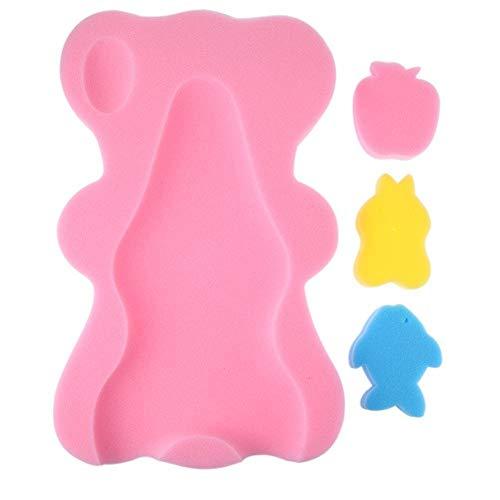Domybest badkussen, badmat, badstof, antislip, voor babyvoeding Roze