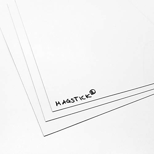 3er Set DIN A4 Magstick® Whiteboard-Folie selbstklebend I flexibler Haftgrund für Magnete, Ferrofolie in weiß, beschreibbar nass abwischbar I mag_089