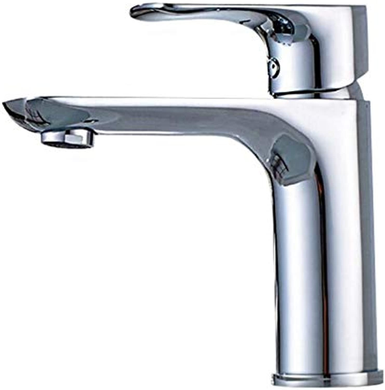 Kupfer Kupfer Krper Becken Wasserhahn hei und kalt Einhand-Loch Waschbecken Bad Wasserhahn