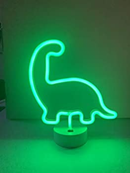 LED Neon Look Sign12x5.5 Inches As Bright As Neon Without The High Price and Fragile Glass Party Kids Room Game Room Decoration Battery Or Plug in Operation  Dinosaur