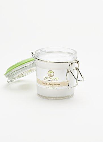 Pot d'huile de noix de coco organique cru non raffiné - 8 oz. Pot - Coco-Crush