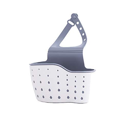 Westeng Estante de Almacenamiento para Fregadero, Esponja Caja de Almacenamiento Colgante Organizador de Fregadero Cocina Cesto Size 13 * 5 * 21cm (Beige)