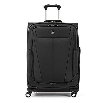 Travelpro Maxlite 5 Softside Expandable Spinner Wheel Luggage Black Checked-Medium 25-Inch