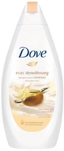 Dove Crèmebad Pure Verwen met sheaboter en vanillegeur (1 x 750 ml)