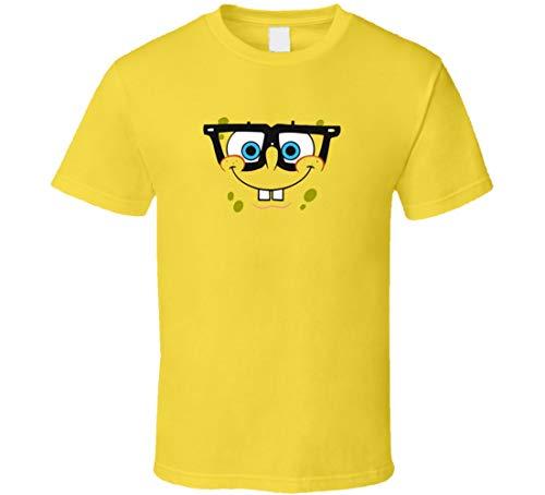 YONGMAO Spongebob Brille Gesicht Halloween Kostüm T-Shirt Daisy Gr. M, gold