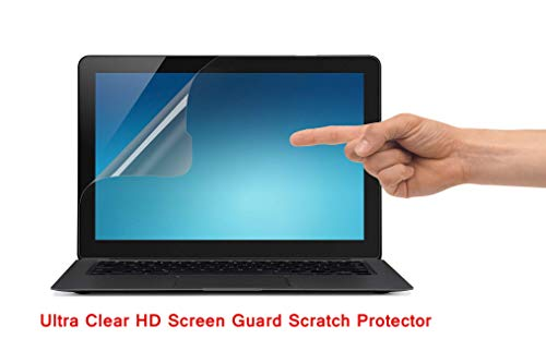 "Saco Ultra Clear Glossy HD Screen Guard Scratch Protector for Dell Inspiron 15 2-in-1 5568 15.6"" Touch Laptop"