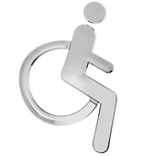 Amuzocity Rollstuhl Behinderung Zeichen Zeichen Selbstklebende ABS Kunststoff Wandtattoo Plakette