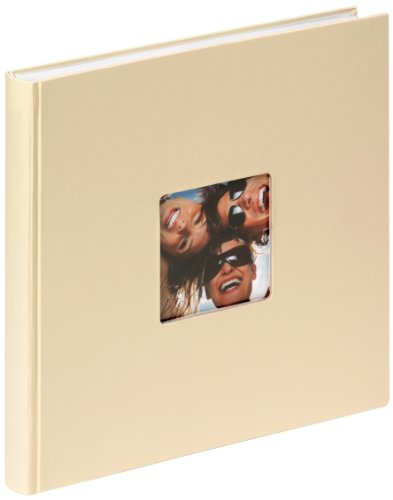 Walther Design - Álbum de Fotos Fun, con Recorte para Foto, Color Beige (Crema), 26 x 25 cm