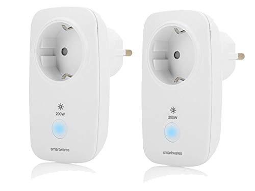 Intelligente extra radiografische stopcontacten voor de Smarthome Pro-serie in 2-pack – per app bedienen & lampen dimmen.