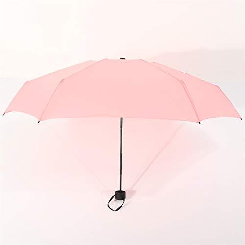 Mini paraguas de bolsillo mujeres UV pequeños paraguas lluvia mujeres impermeable hombres sol sombrilla conveniente niñas viaje parapluie rosa