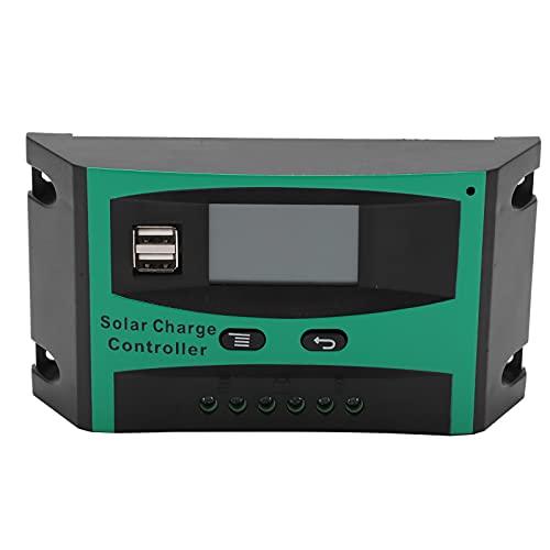 01 Controlador de Panel Solar, Controlador de energía Solar 12V / 24V Puerto USB Dual para la Industria para el hogar para los Negocios para la luz de la Calle(20A, Tipo de Torre Inclinada de Pisa)