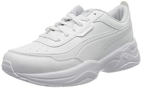 PUMA Cilia Mode, Zapatillas Mujer, Blanco White Silver, 38.5 EU