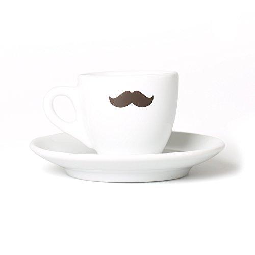 Coffee Circle Espresso Tasse mit Schnurrbart