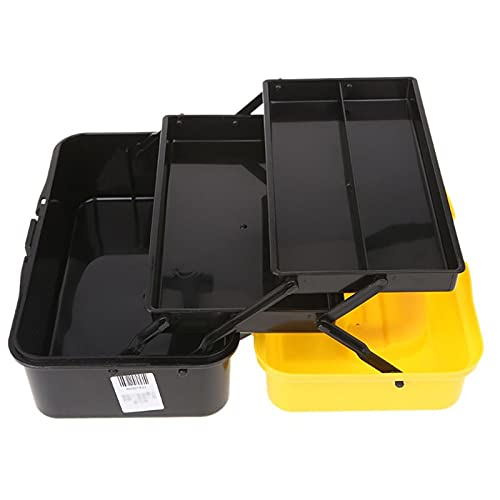Cassetta porta attrezzi Scatola di immagazzinaggio strumento di piegatura a 3 strati Portatile Plastic Tools Plastic Toolbox Toolbox Organizzatore multifunzione auto riparazione auto contenitore Casse