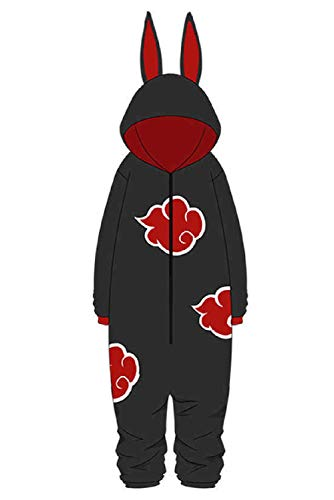 Zhinina Akatsuki Onesie Pajamas Jumpsuit Sleepwear Itachi Cosplay Costume Outfit