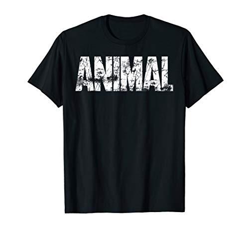 Original ANIMAL Gym TShirt Workout Bodybuilding Lifting Gift T-Shirt