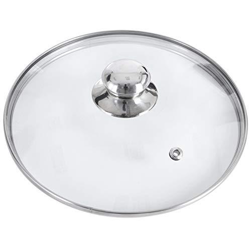 ORION Glasdeckel mit Edelstahlring für Topf / Pfanne 200°C hitzebeständiges Glas Ø 14, 16, 18, 20, 22, 24, 26, 28, 30 cm (30 cm)