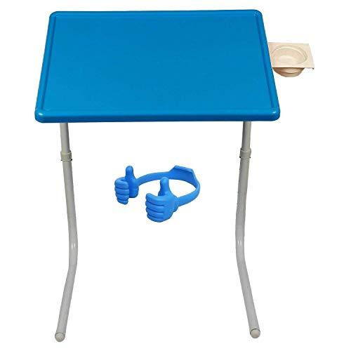 Graphitos Table Multi Purpose Foldable Multi Utility Table Laptop Multi Utility Table - Sky Blue Table