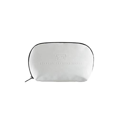 Nikgic. Sac cosmétique Sac cosmétique Semi-Circulaire Sac de Rangement Pratique Multifonctionnel imperméable,Trompette Blanche