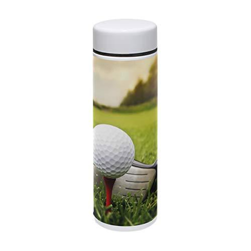 BIGJOKE termo de acero inoxidable con diseño de pelota de golf para bebidas, termo de viaje para niños y bebés, 220 ml
