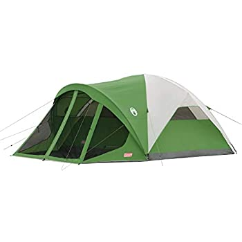 Coleman 6-Person Dome Tent with Screen Room   Evanston Camping Tent with Screened-In Porch