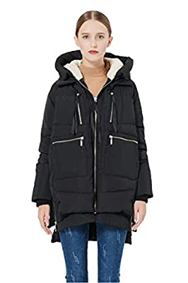 Orolay Women's Thickened Down Jacket Black 2XL from Orolay