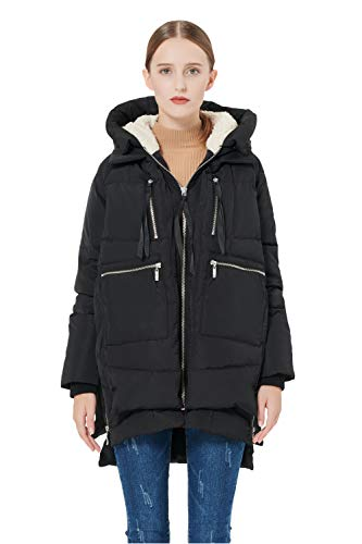 Orolay Women's Thickened Down Jacket Black M