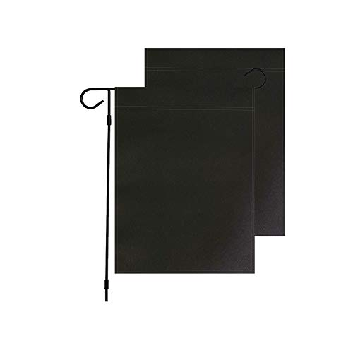 Solid Color Black Decorative Garden Flags,Plain Colored Blank Banner Double Sided DIY Flags 12'x 18',Party Yard Outdoor Home Decoration (Black)
