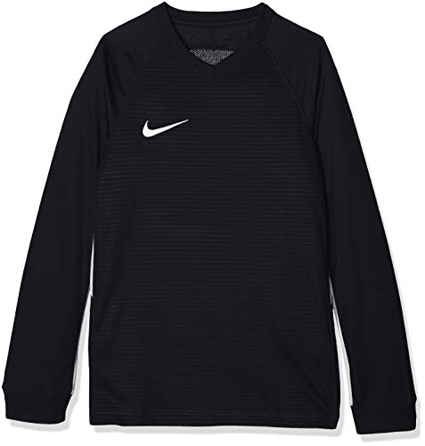 Nike Kids' Tiempo Premier Football Camiseta de Manga Larga, Unisex niños, Negro...