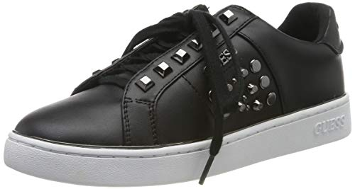 Guess Brandi/Active Lady/Leather LIK, Zapatillas de Gimnasia para Mujer, Negro (Black Black), 37 EU