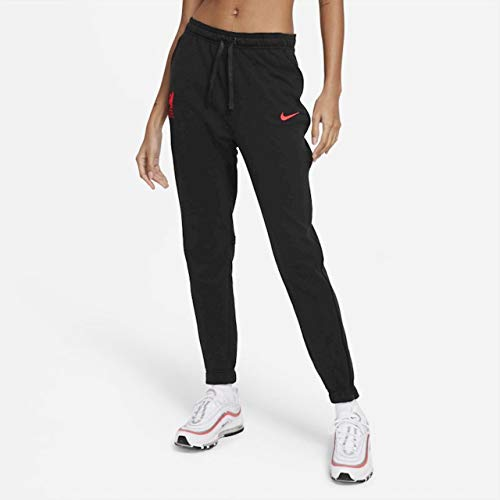 Nike CZ3132-032 LFC W NK DRY PANT KPZ Pantaloni sportivi Donna black heather/black/(laser crimson) (no sponsor) M