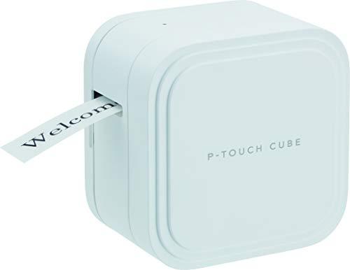 Brother PT-P910BT Cube - Rotuladora electrónica Profesional portátil (Ancho 36 mm, USB, Bluetooth, PC/Mac), Blanco