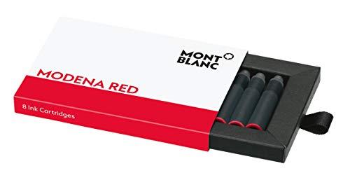 Montblanc Tintenpatronen Modena Red 119717 – Hochwertige Tinte für Füllfederhalter Mohn Rot – 1 Schachtel à 8 Füllerpatronen