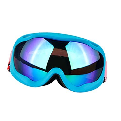 Amagogo Gafas de esquí para Evitar la ceguera por la Nieve Gafas de Snowboard para Deportes de Invierno Protección UV antivaho para Hombres Mujeres Jóvenes - Marco y len Azul